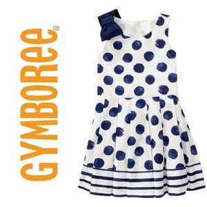 Gymboree | Navy Polka Dot Dress | Girls size 8